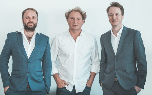 Quicket founders: Mike Kennedy, Jamie Hedley and James Tagg
