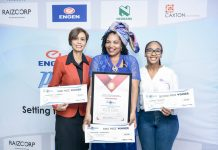 Engen Pitch & Polish, Natasha Warries, Mashela Mokgabudi (Winner) and Kedibone Tsiloane