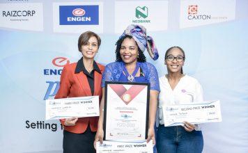 Engen Pitch & Polish, Natasha Warries, Mashela Mokgabudi (Winner) and Kedibone Tsiloane